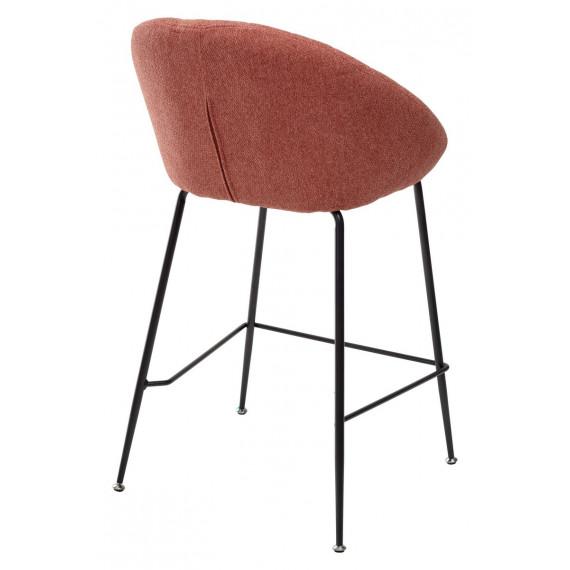 Полубарный стул ATLAS 9105-10 коралл (H=65cm)