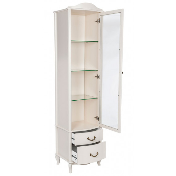 Шкаф-витрина Джульетта молочный дуб