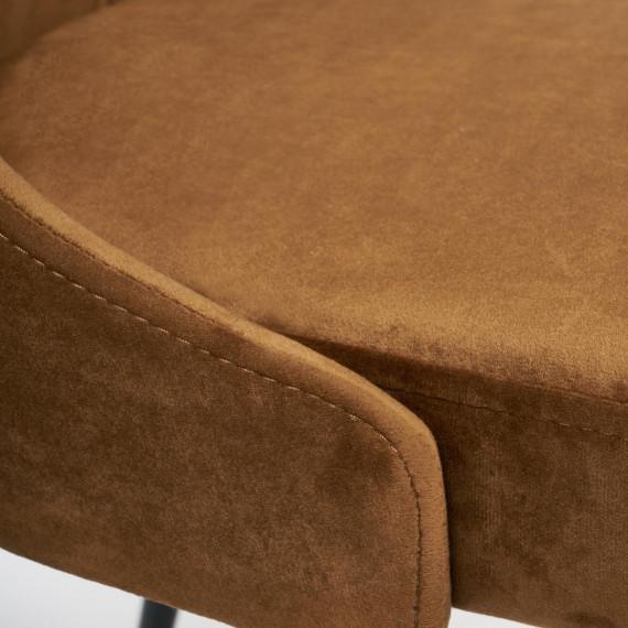 Стул LAVANDA (mod.712) коричневый barkhat 11/черный каркас