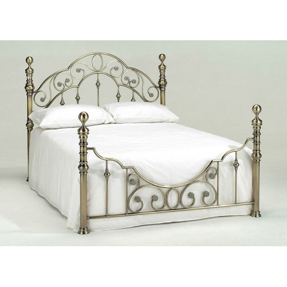Кровать двуспальная «Виктория»  (Victoria  Antique Brass )+основание 140х200