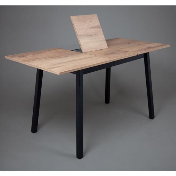 ТИРК стол раздвижной 110(140)х70, Дуб табачный/Черный