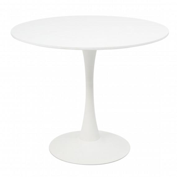 Стеклянный стол Tulip 90 white