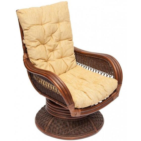 Кресло-качалка «Андреа релакс» (Andrea Relax) + ПОДУШКА ткань рубчик, цвет кремовый