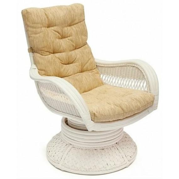 Кресло-качалка из ротанга «Андреа релакс медиум» (Andrea ) + Подушка (TCH White)