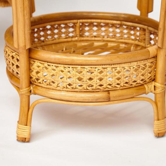"""ТЕРРАСНЫЙ КОМПЛЕКТ """"PELANGI"""" (стол со стеклом + 2 кресла) /без подушек/ Honey"""