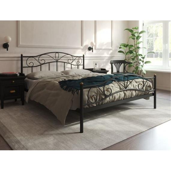 Кровать Глэдис с изножьем (140х200, черный)