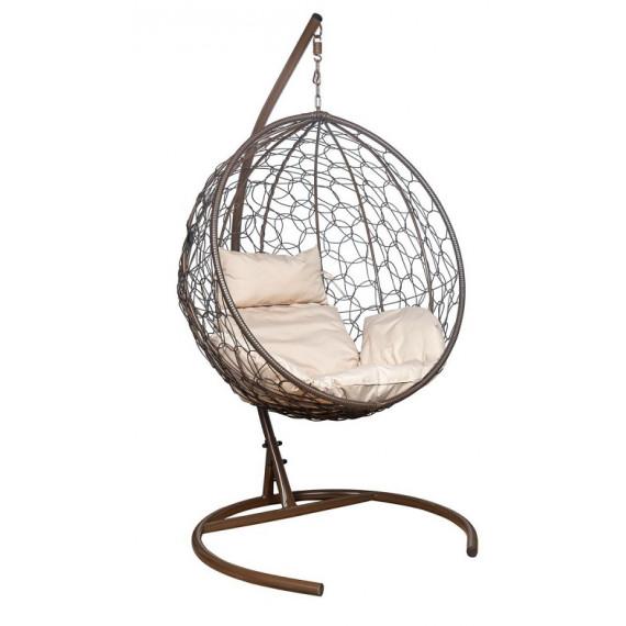 Кресло подвесное LESET Луна коричневое