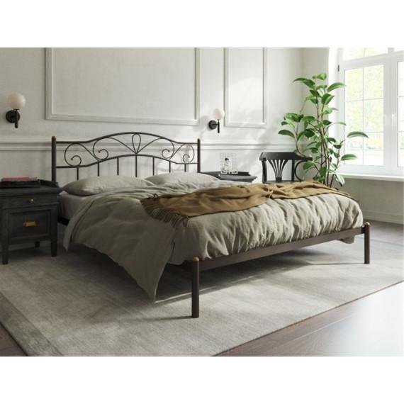 Кровать Глэдис без изножья (140х200, коричневый бархат)