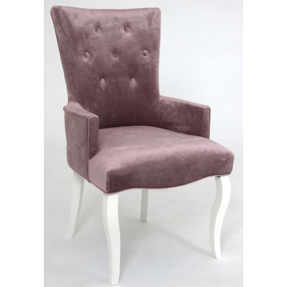 Кресло Виктория (эмаль белая / 24 - розовый)