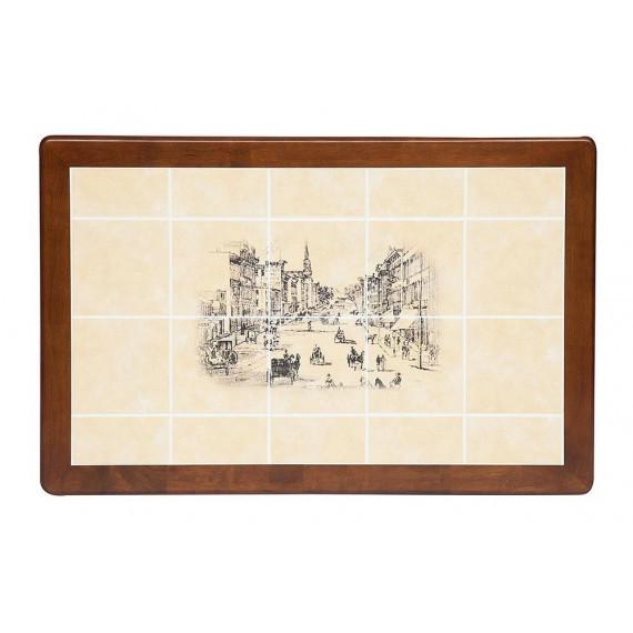 Стол СТ 3045Р Тёмный Дуб, рисунок-Город №2
