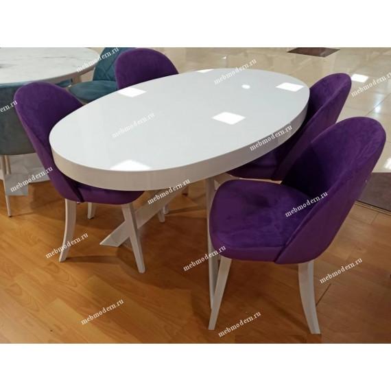 Обеденная группа VO1400 белый/144 фиолетовый