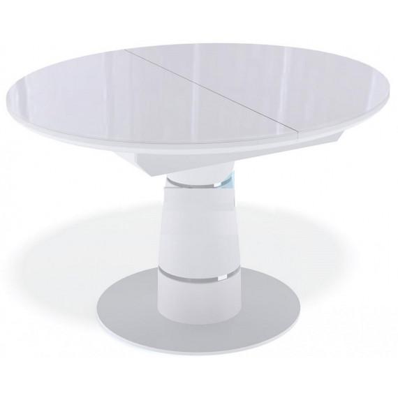 Стол Kenner BR1100 белый/стекло белое глянец