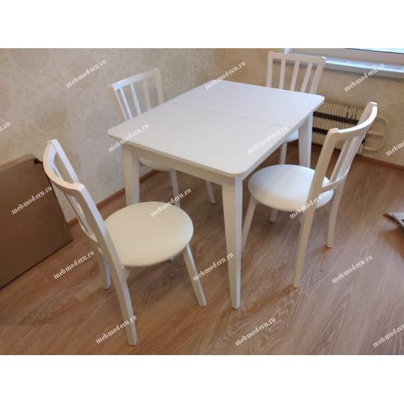 Стол 900М белый/стекло белое