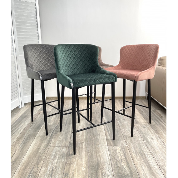 Барный стул ARTEMIS BLUVEL-78 GREEN (H=65cm)