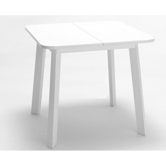 Стол Dikline UNIS 14 стекло белое/опоры белые