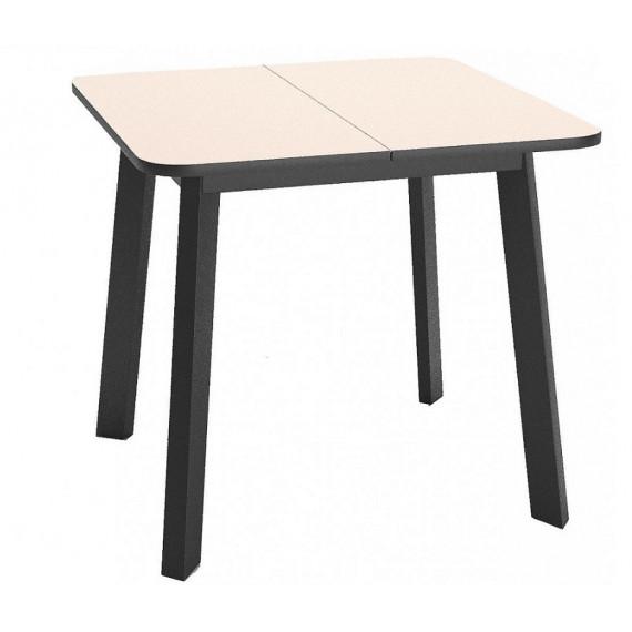 Стол Dikline UNIS 14 стекло крем/опоры черные