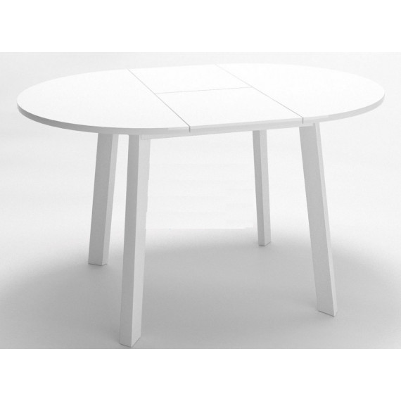 Стол Dikline UNIS 16 стекло белое/опоры белые