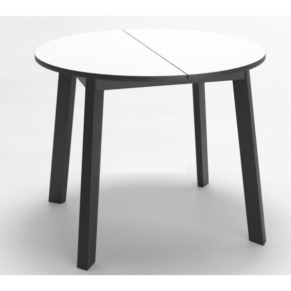 Стол Dikline UNIS 16 стекло белое/опоры черные