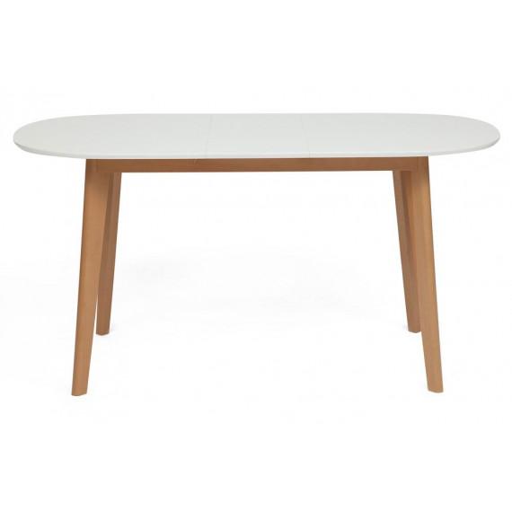 Стол обеденный раскладной BOSCO (Боско) Белый+Натуральный