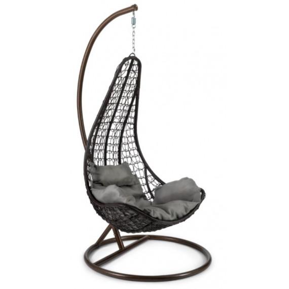 Кресло подвесное (mod. SC-010) с подушкой медный/коричневый