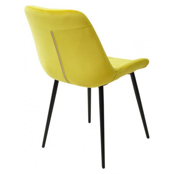 Стул ХОФМАН, цвет желтый #H19, велюр / черный каркас
