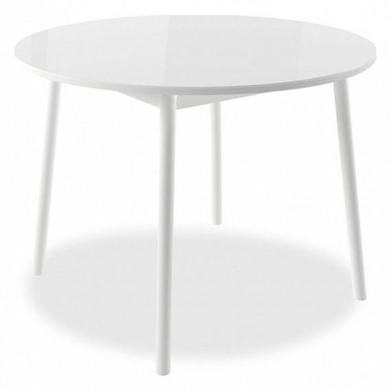 Стол Раунд (D100) белый/белый круглый