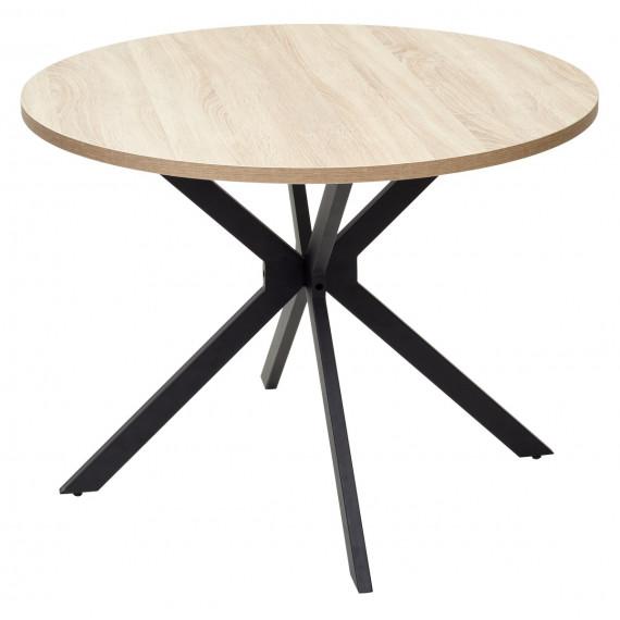 Стол VEGA D100 Дуб Бардолино/ черный каркас