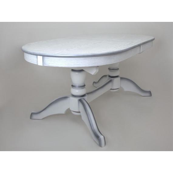 Стол Макси белый/сусальное серебро