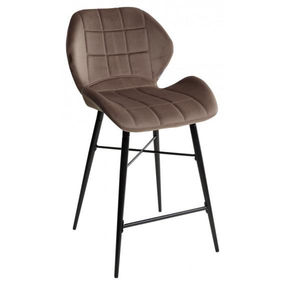 Барный стул MARCEL BLUVEL-38 LATTE (H=65cm), велюр
