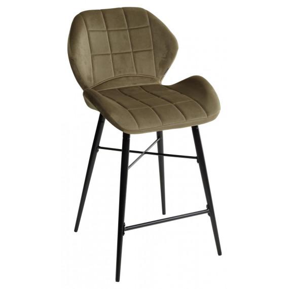 Барный стул MARCEL BLUVEL-77 ASH GREEN (H=65cm), велюр