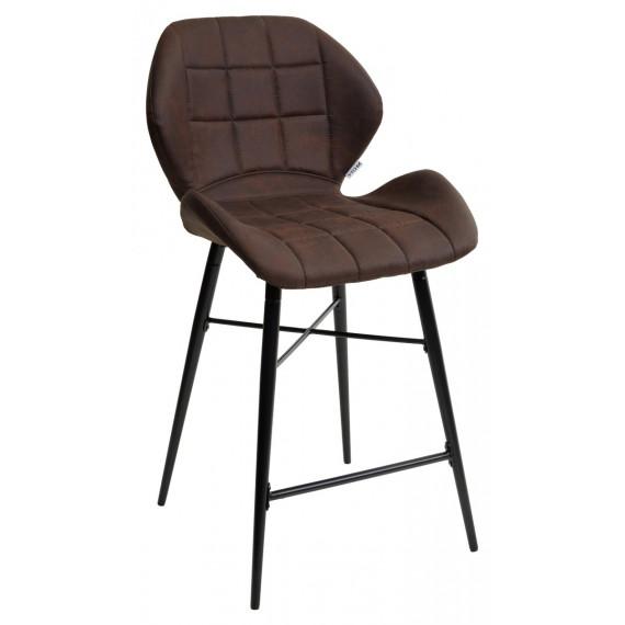 Барный стул MARCEL MARCEL COWBOY-#800 темно-коричневый (H=65cm), велюр