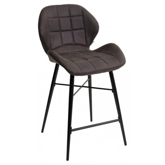 Барный стул MARCEL COWBOY-#104 темно-серый (H=65cm), велюр