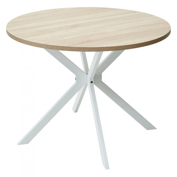 Стол VEGA D100 Дуб Бардолино/ белый каркас