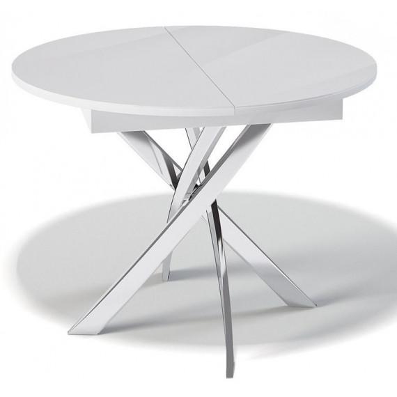 Стол Kenner R1100 белый/стекло прозрачное