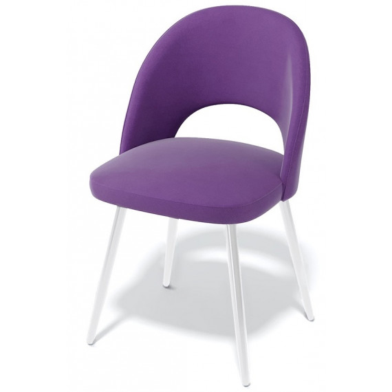 Стул 148KS фиолетовый 38/белый каркас