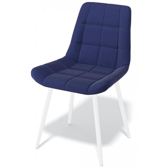 Стул Kenner 154KS темно-синий 60/белый каркас