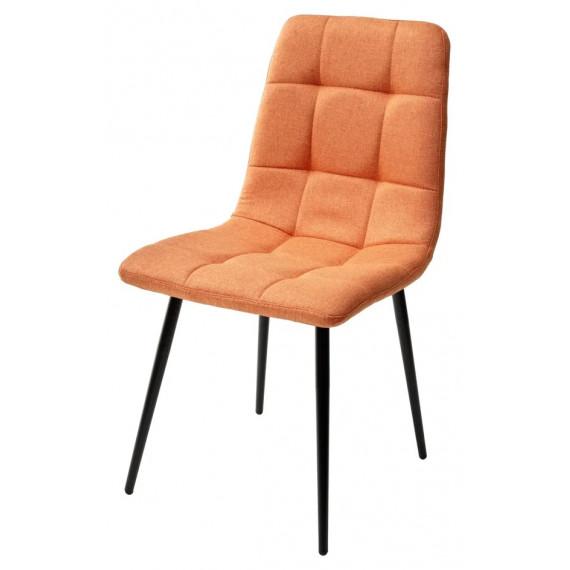 Стул ДИЛАН, цвет оранжевый, ткань/черный каркас