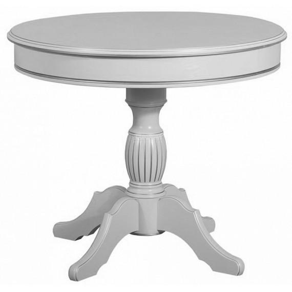 Стол Венеция-1 ЛАЙТ белая эмаль с серебрянной патиной