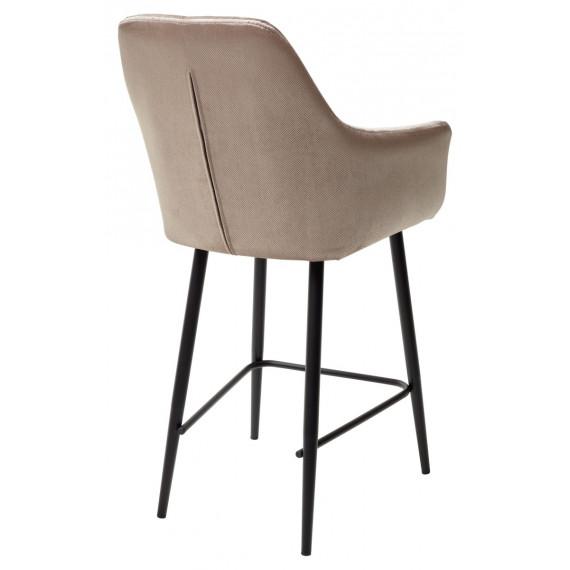 Полубарный стул Роден Blitz 05 Серо-бежевый, велюр H 65cm