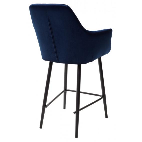 Полубарный стул Роден Blitz 20 Синий, велюр H 65cm