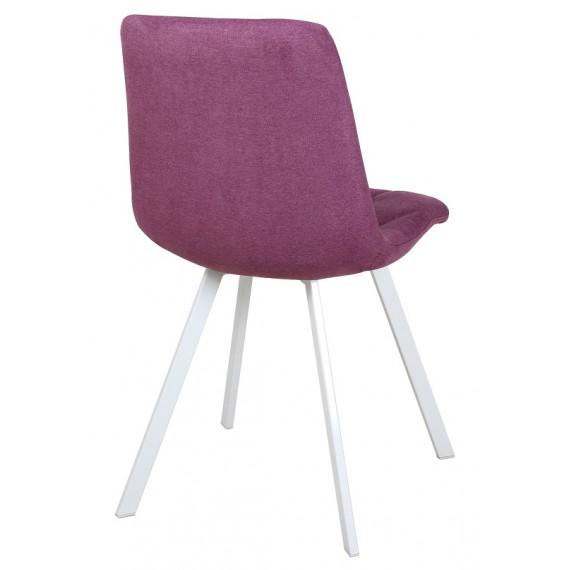Стул Рокки WX-221 ткань пурпурный/опоры белые