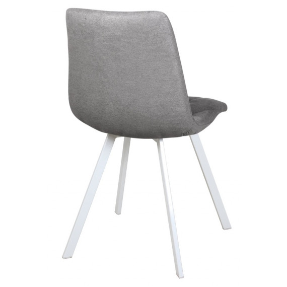 Стул Рокки WX-221 ткань серый/опоры белые