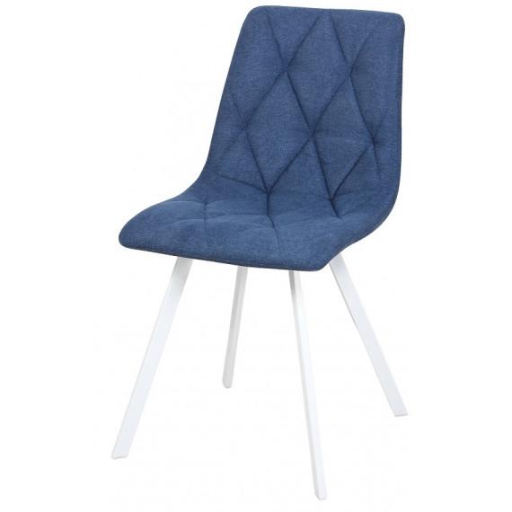 Стул Рокки WX-221 ткань синий/опоры белые