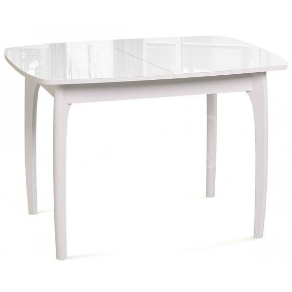 Стол DikLine М40 белый/стекло белое