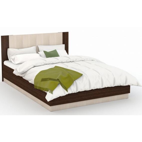 Кровать Аврора 140х200 (основание ЛДСП), Венге/Дуб молочный