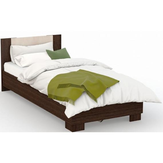 Кровать Аврора 120х200 (основание ЛДСП), Венге/Дуб молочный