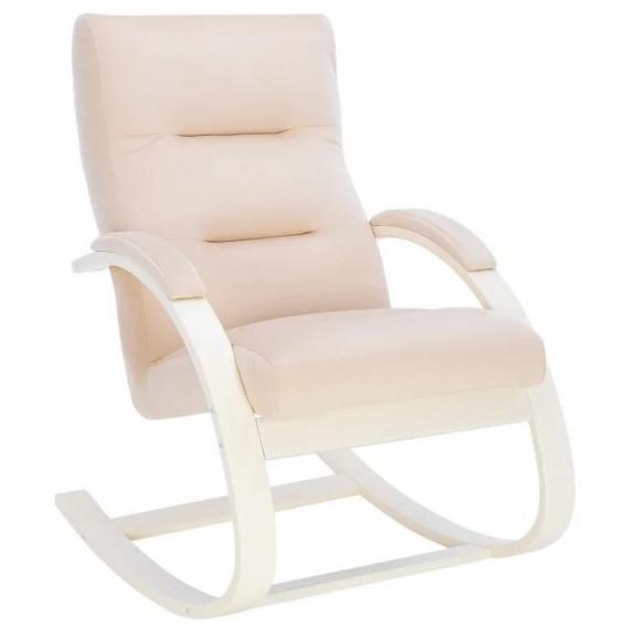 Кресло-качалка Милано (Слоновая кость/ткань V18)