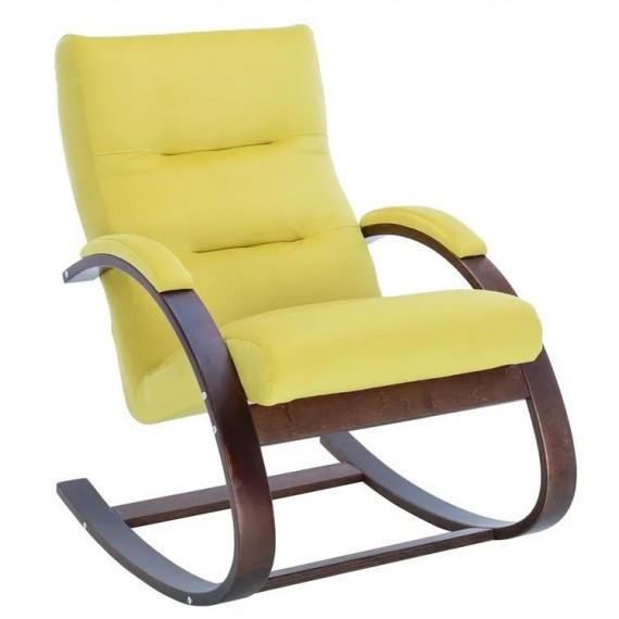 Кресло-качалка Милано (Орех текстура/ткань V 28)