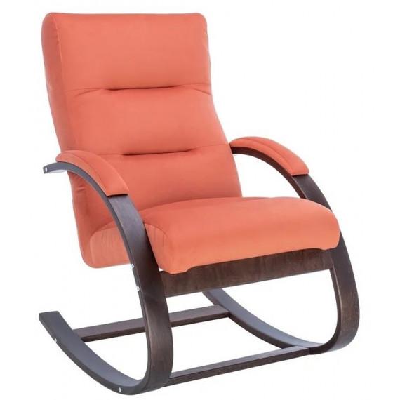 Кресло-качалка Милано (Орех текстура/ткань V 39)