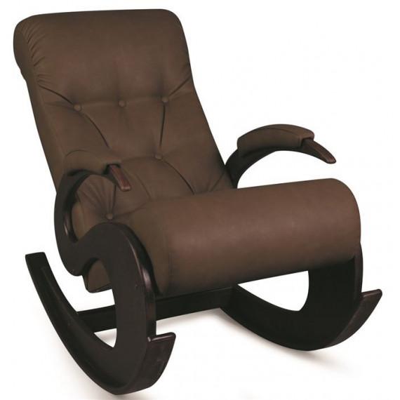 Кресло-качалка Лебедь (темный тон / 07 - к/з коричневый)